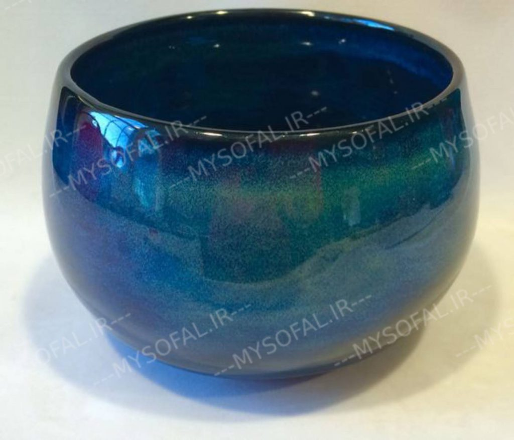Turquoise blue pottery